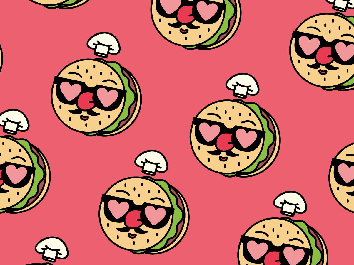 TOMATONI heb ai hat design digital vector méxico illustration character head chef hat chef draw heart tomatoe burger