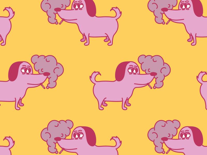 Smoking Doggo pattern smoking dog animal ai design digital character vector méxico draw illustration