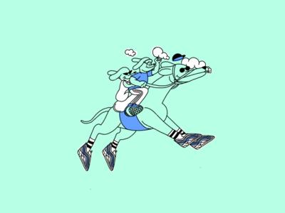 Running doggo