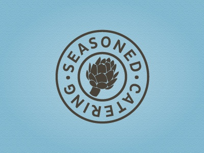 Seasoned Catering catering logo artichoke seasoned