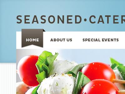 Seasoned Catering – landing page