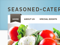 Seasoned Catering – landing page