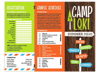 Camp Loki Brochure camp loki brochure tree