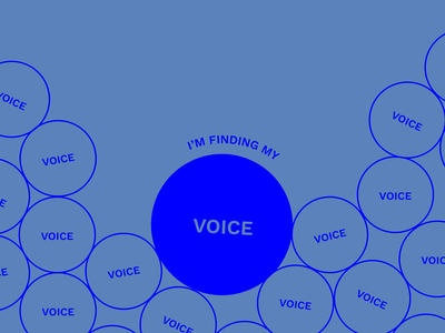 I'm finding my voice brutalist simple geometric circle minimalist typography design graphic design voice typography art typography