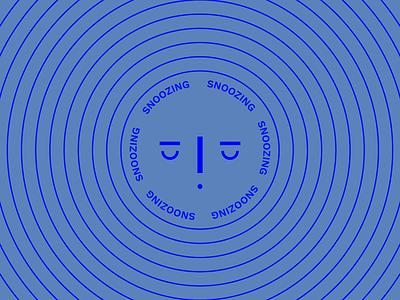 snoozing sleepy snooze sleep face circle simple typography minimalist graphic vector drawing illustration