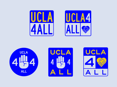 UCLA4ALL logo exploration logotype typography pro bono logo design branding logo
