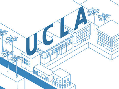 UCLA: isometric type palm trees southern california los angeles buildings ucla illustration typography isometric