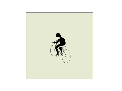 blob biker bicycle bike graphic art vector drawing doodle illustration