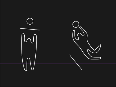 we take responsibility / we jump on it simple minimalist blob icon art vector doodle drawing illustration