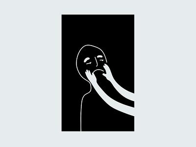 :-( minimal simple minimalist hands sad face art vector doodle drawing illustration