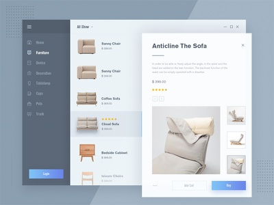 Fluent design - Furniture mall design fluent