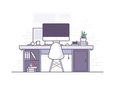 My Desk ui illustration