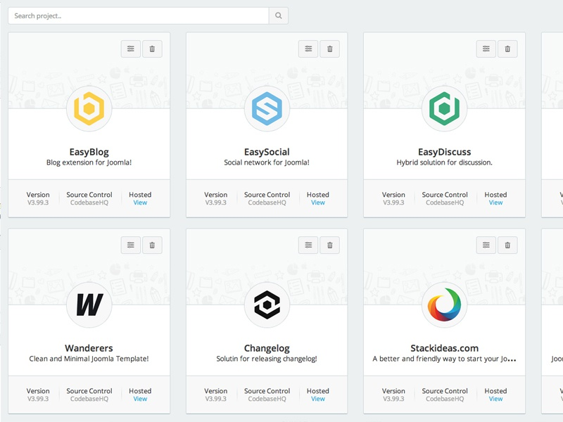 Exploration - Google Cards Style joomla stackideas web app listing page google cards ui interface ux clean flat design
