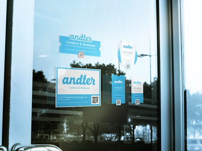 Andter glass window sticker