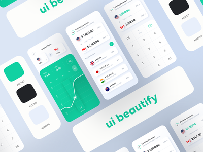 Currency Conversion App Design modern apps trending 2020 android app android app design ui beautify app design ios app design mobile eslam elshereef ui ux