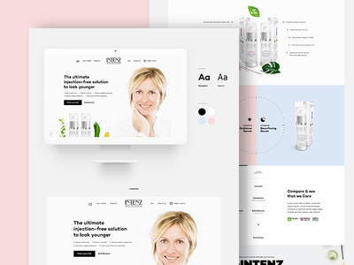 Minimal Website For Skincare Product