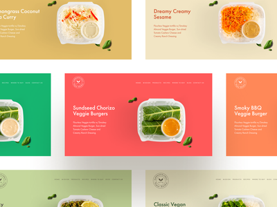 Vegan Food Store website colorful bold colors food and drink vegan food easyeze web design ecommerce minimal clean eslam elshereef ui ux