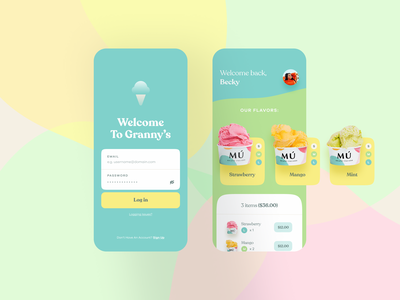 Ice Cream App mobile app design ice cream shop mobile app easyeze eslam elshereef app design ecommerce ios app mobile minimal ui ux