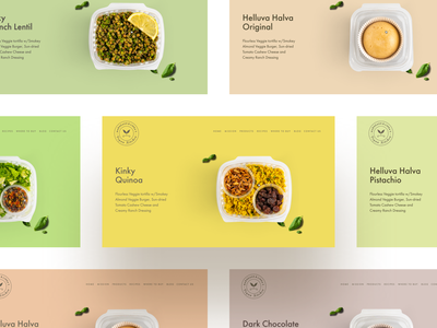 MLVegan Kitchen - Hero Sections bold colors colorful vegan food and drink food website ecommerce web design clean eslam elshereef minimal easyeze ui ux
