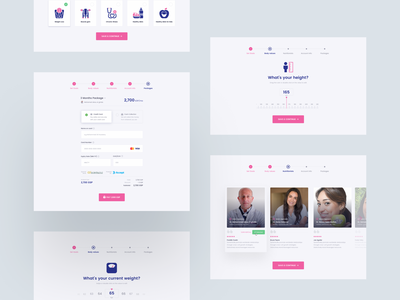 instadiet - Registration Process Vol 02 saas ui ux easyeze eslam elshereef clean diet design weight loss health web design website design website ui design