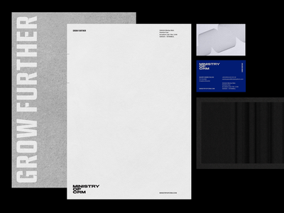 MOC—Ministry of CRM branding identity stationery design print
