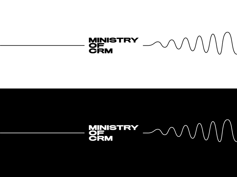 MOC—Ministry of CRM illustration branding stationery design identity