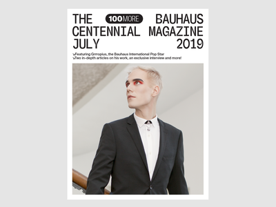 Grrropius Visual Identity branding stationery logo print identity bauhaus100 magazine cover cover design magazine