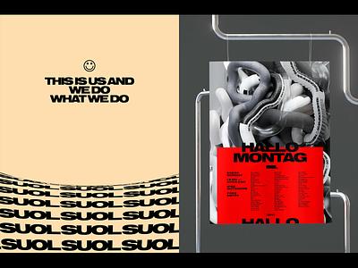 SUOL Visual Identity graphic design logo music label poster identity
