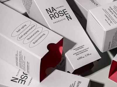 Narosen Rose Water - Packaging Design design logo identity branding print still-life photography package rose water package design