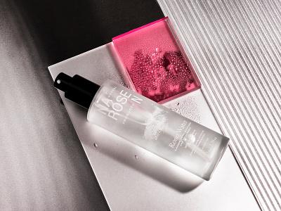 Narosen Rose Water photography identity packaging branding rose water