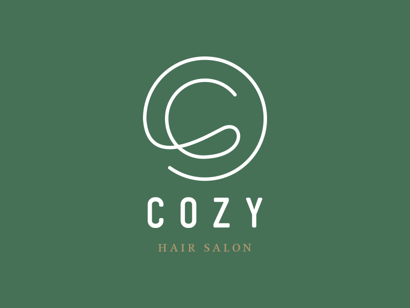 Cozy Hair Salon  hair salon hairdresser logo cozy