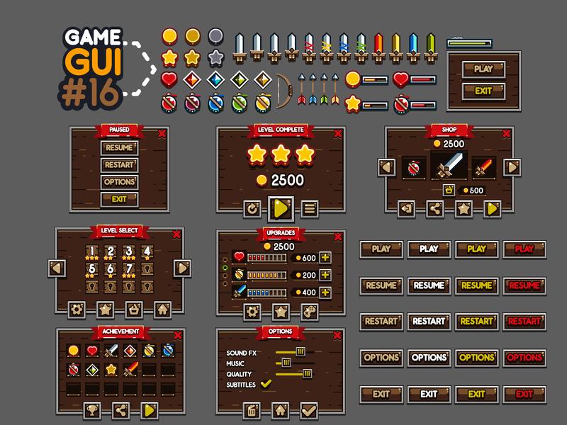 Game GUI #16 by Yurii Krainyk on Dribbble