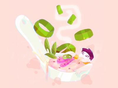 Pho is pho-ever soup ipadproart ipadpro ipad procreate digitalillustration digitalart digital drawingart drawing food illustration foodie food noodles pho art cute simple character illustration