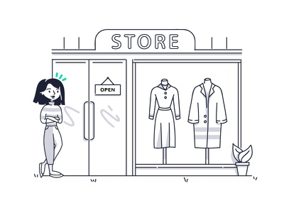 Grow with us web okendo store shopping product illustration character