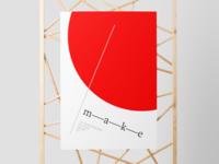 m—a—k—e poster.