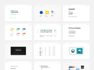 Design Style Guide - Ljubljana website web system visual style guidelines