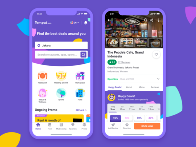 Tempat.com Mobile Site & App Design