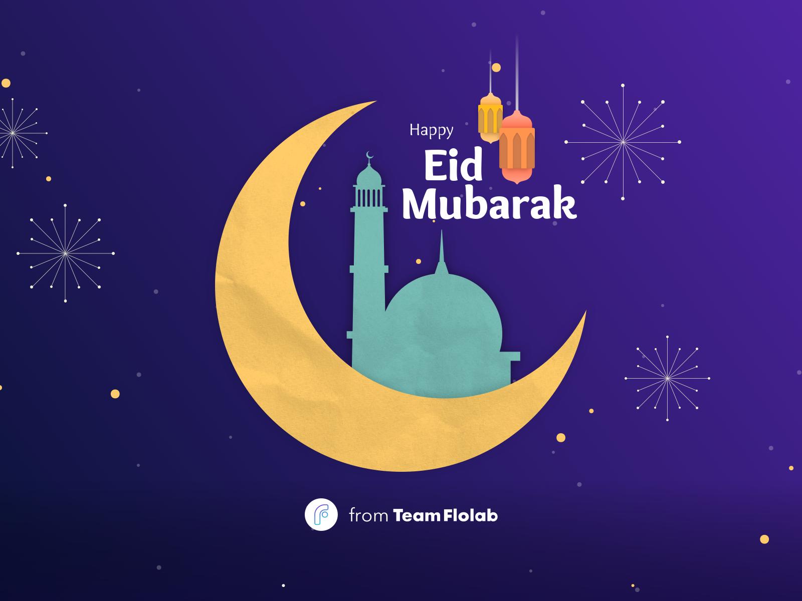 happy eid mubarak 2020flolab on dribbble