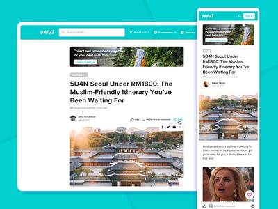 HHWT: Article Responsive Page cards responsive design web design layout fluid consistency article web mobile navigation design responsive app adaptative ux ui