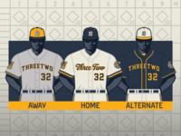 Baseball Uniform Design Template (3·2 Designs)