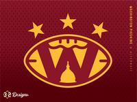 Washington Pigskins Alternate (concept) throwback district of columbia nfl sports logo sports design concept rebrand warthog pig hogs pigskins stars esports jersey helmet football capitol capitals washington dc sports