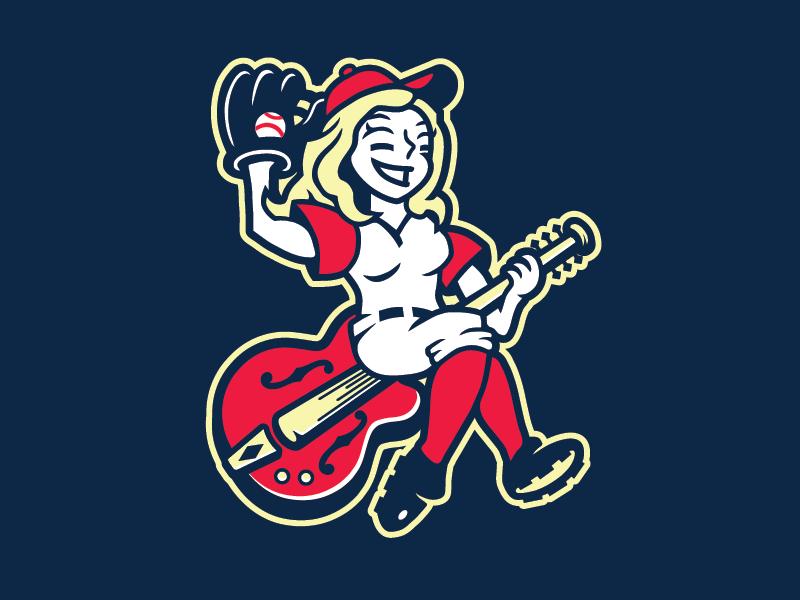 Nashville Sounds Proposed Alt. Mark music city cowgirl neon lights guitar milb baseball nashville sounds honky tonks nashville