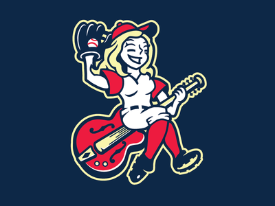 Nashville Sounds Proposed Alt. Mark music city cowgirl neon lights guitar milb baseball nashville sounds honky tonks nashville