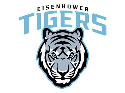 Eisenhower Tigers Primary kansas goddard silver black high school eisenhower columbia blue tigers