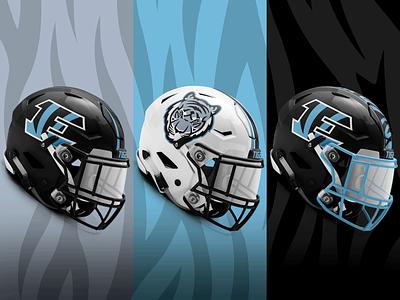Tiger Helmet Poster wichita design gradient sports high school kansas blue black eisenhower poster stripes helmet football tigers