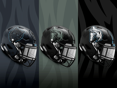 Alternate Tiger Helmet Poster poster stripes stealth skull alternate helmet design sports high school gradient blue black wichita eisenhower tigers football