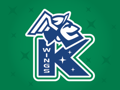 Kalamazoo Wings Affiliate Night 2019 - Logo canada michigan helmet hermes wings stars jersey contest sports design sports blue green kalamazoo canucks vancouver hockey