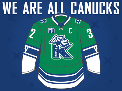 Kalamazoo Wings Affiliate Night 2019 - Uniform echl helmet hermes stars comets jersey blue green sports design contest sports canucks vancouver canada michigan wings kalamazoo hockey