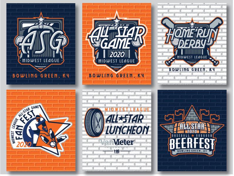 Star Events 2020.2020 Midwest League All Star Game Event Logos By Brandon