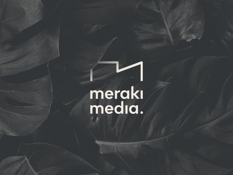 Meraki media camera socialmediamarketing photography simple minimal identity logo